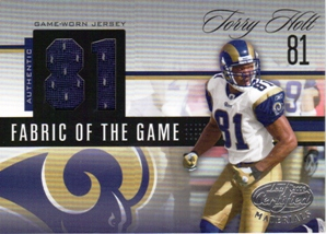 2006 Leaf Certified Materials Fabric of the Game Jersey Number #146 Torry Holt/81