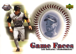 2002 Sweet Spot Game Face Blue Portraits #167 Luis Gonzalez GF
