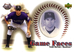2002 Sweet Spot Game Face Blue Portraits #169 Todd Helton GF