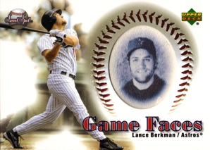 2002 Sweet Spot Game Face Blue Portraits #173 Lance Berkman GF