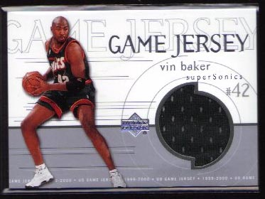 1999-00 Upper Deck Game Jersey #GJ38, Vin Baker