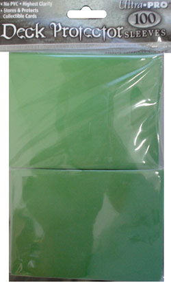 Ultra Pro Deck Protector Sleeves 100 count pack - Green (fits standard size Magic the Gathering cards, etc)