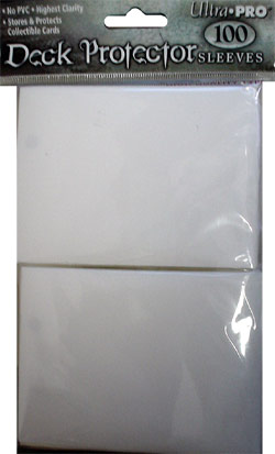 Ultra Pro Deck Protector Sleeves 100 count pack - White (fits standard size Magic the Gathering cards, etc)