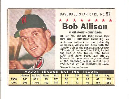 1961 Post #91B B.Allison BOX Minneapolis