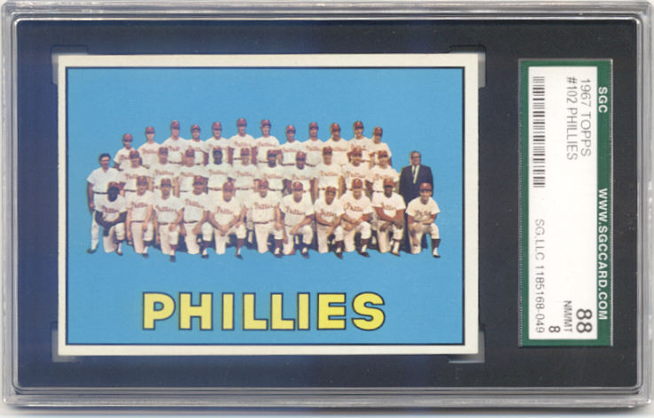 1967 Topps #102 Philadelphia Phillies TC