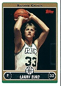 2006-07 Topps #33 Larry Bird - Variation - C