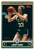 2006-07 Topps #33 Larry Bird - Variation - E