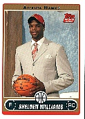 2006-07 Topps #218B Shelden Williams Draft RC