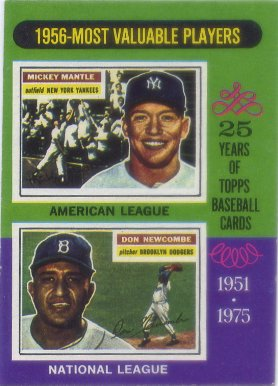1975 Topps Mini #194 Mickey Mantle/Don Newcombe MVP