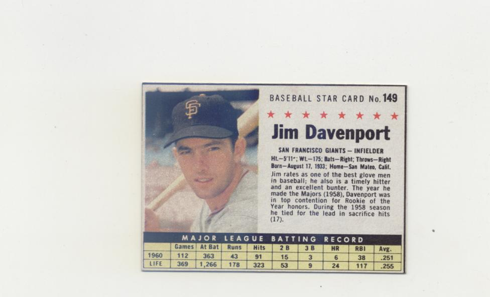 1961 Post #149B Jim Davenport BOX