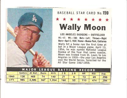 1961 Post #159B Wally Moon BOX