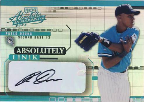 2002 Absolute Memorabilia Absolutely Ink #44 Pablo Ozuna