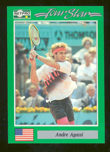 1991 NETPRO Tour Star #3 Andre Agassi first Ever True Rookie Card RARE