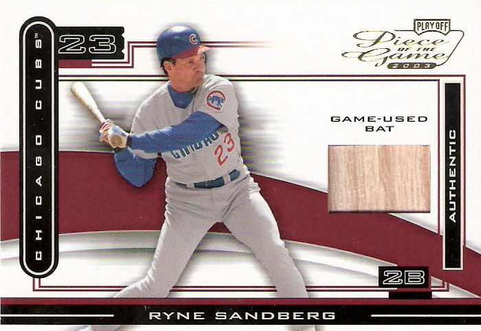 2003 Playoff Piece of the Game #86 Ryne Sandberg Bat