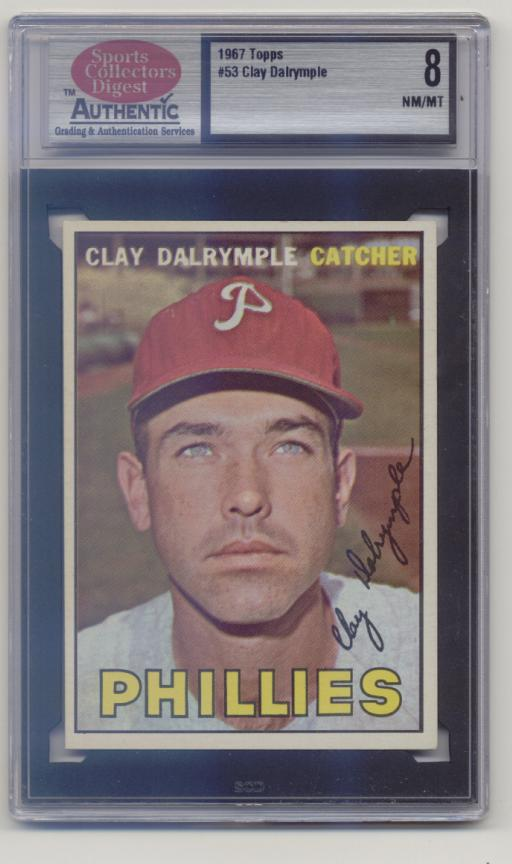 1967 Topps #53 Clay Dalrymple