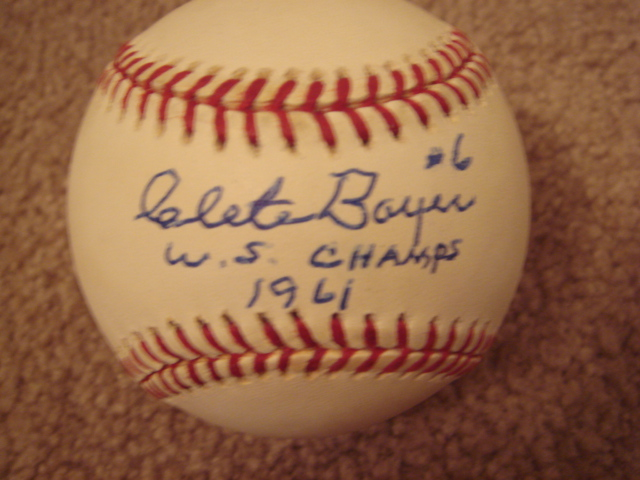 Clete Boyer Autographed Official AL Baseball With COA With ws chp. 1961