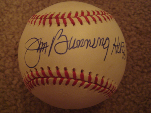 Jim Bunning Autographed Official AL Baseball With COA 
