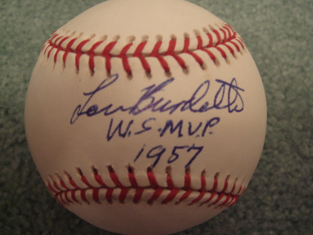 Lou Burdette Autographed Official NL Baseball With COA With mvp ws