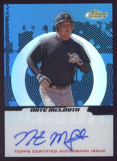 2005 Finest Refractors Blue #142 Nate McLouth AU