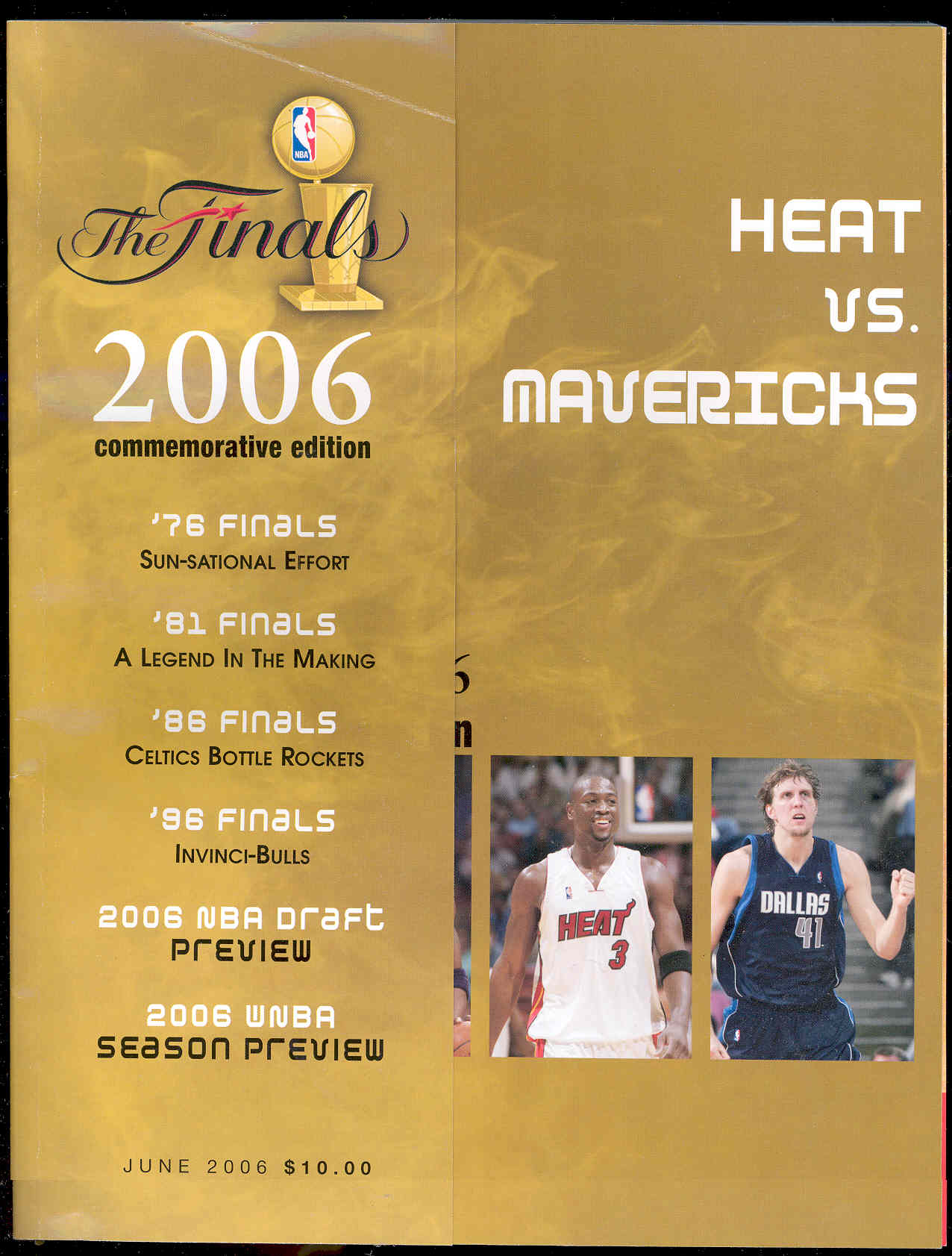 The NBA Finals 2006 Commemorative Program Heat VS. Mavericks