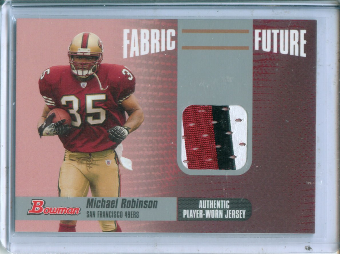 2006 Bowman Fabric of the Future #FFMR Michael Robinson C