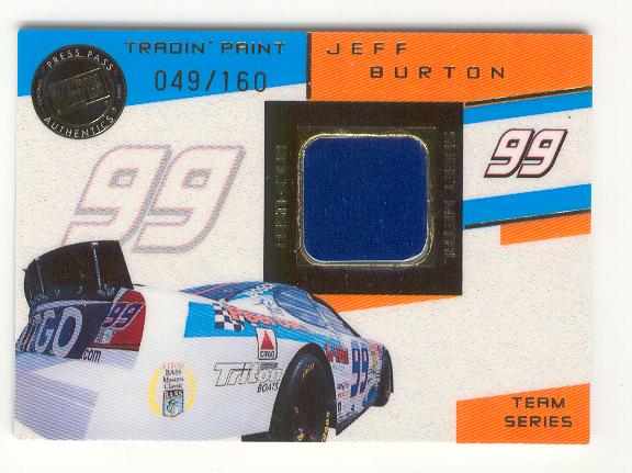 2003 VIP Tradin' Paint Cars #TPT11 Jeff Burton's Car