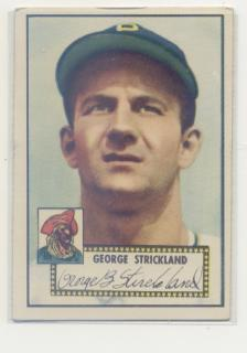 1952 Topps #197 George Strickland RC