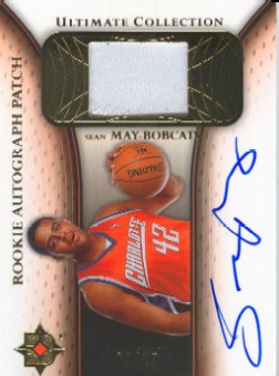 2005-06 Ultimate Collection Rookie Autographs Patches #RPSM Sean May