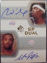 2002-03 SP Authentic SP Dual Signatures #CWME Chris Wilcox/Melvin Ely