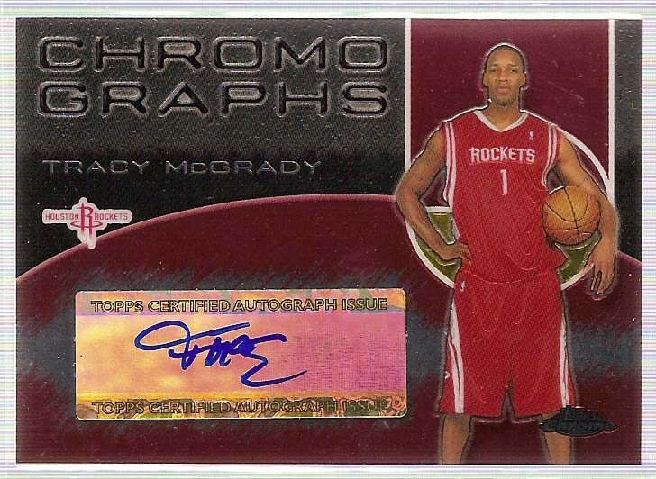 2004-05 Topps Chrome Autographs #TM Tracy McGrady A