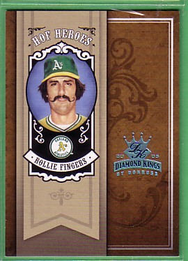 2005 Diamond Kings HOF Heroes Framed Blue Platinum #66 Rollie Fingers