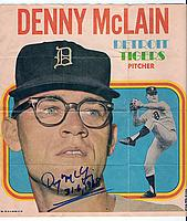 1970 Topps Posters Inserts #24 Denny McLain