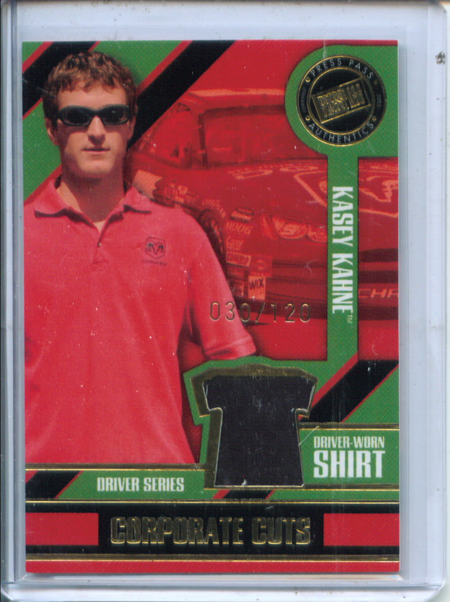 2005 Press Pass Optima Corporate Cuts Drivers #CCD3 Kasey Kahne