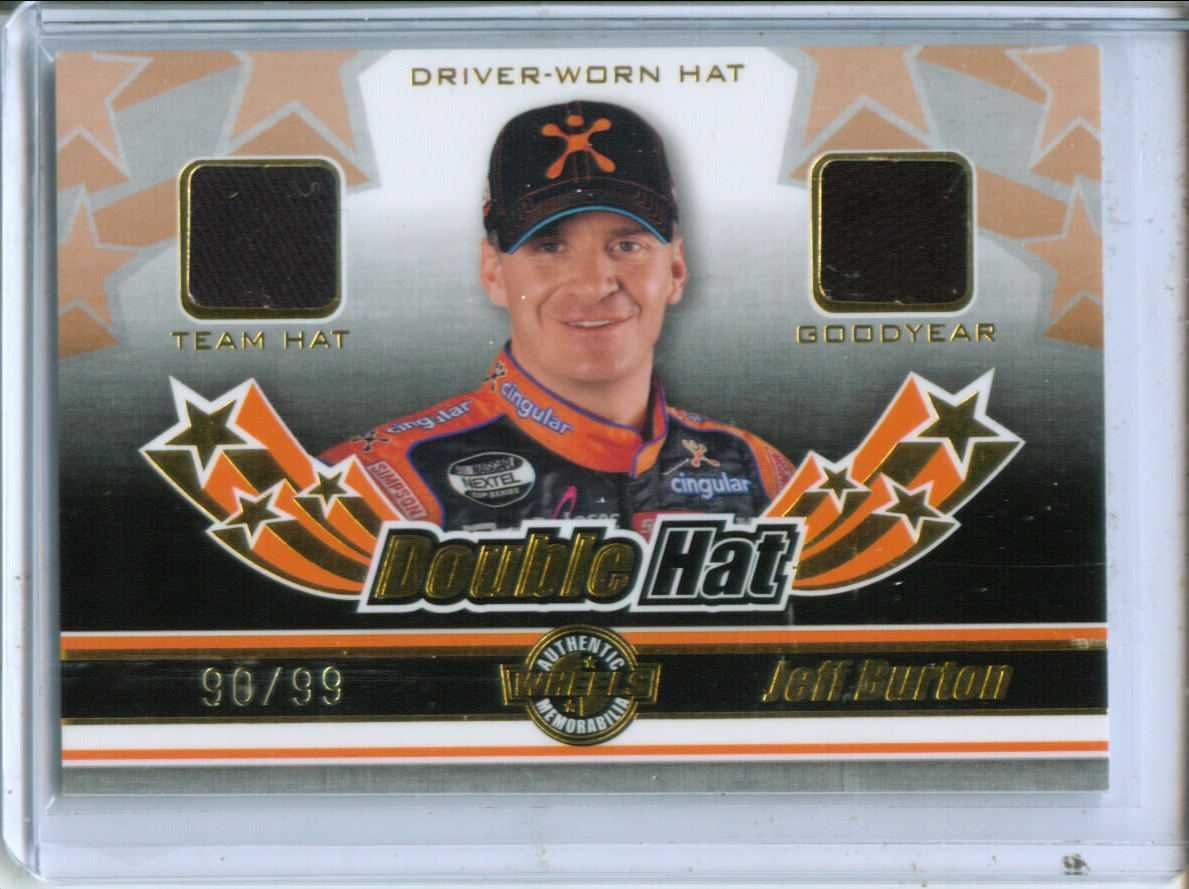 2006 Wheels American Thunder Double Hat #DH3 Jeff Burton