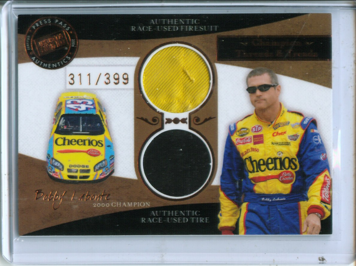 2006 Press Pass Legends Champion Threads and Treads Bronze #CTTBL Bobby Labonte