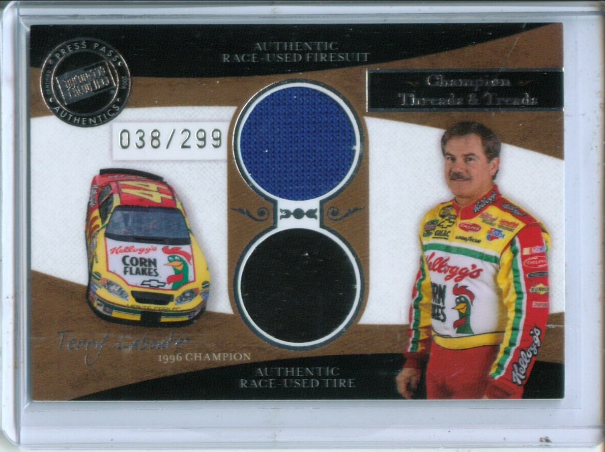 2006 Press Pass Legends Champion Threads and Treads Silver #CTTTL Terry Labonte
