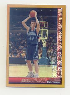 2005-06 Bowman Chrome Refractors Gold #47 Andrei Kirilenko