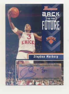 2005-06 Bowman Back to the Future Autographs #SM Stephon Marbury B