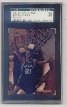1997-98 Finest #101 Tim Duncan B RC
