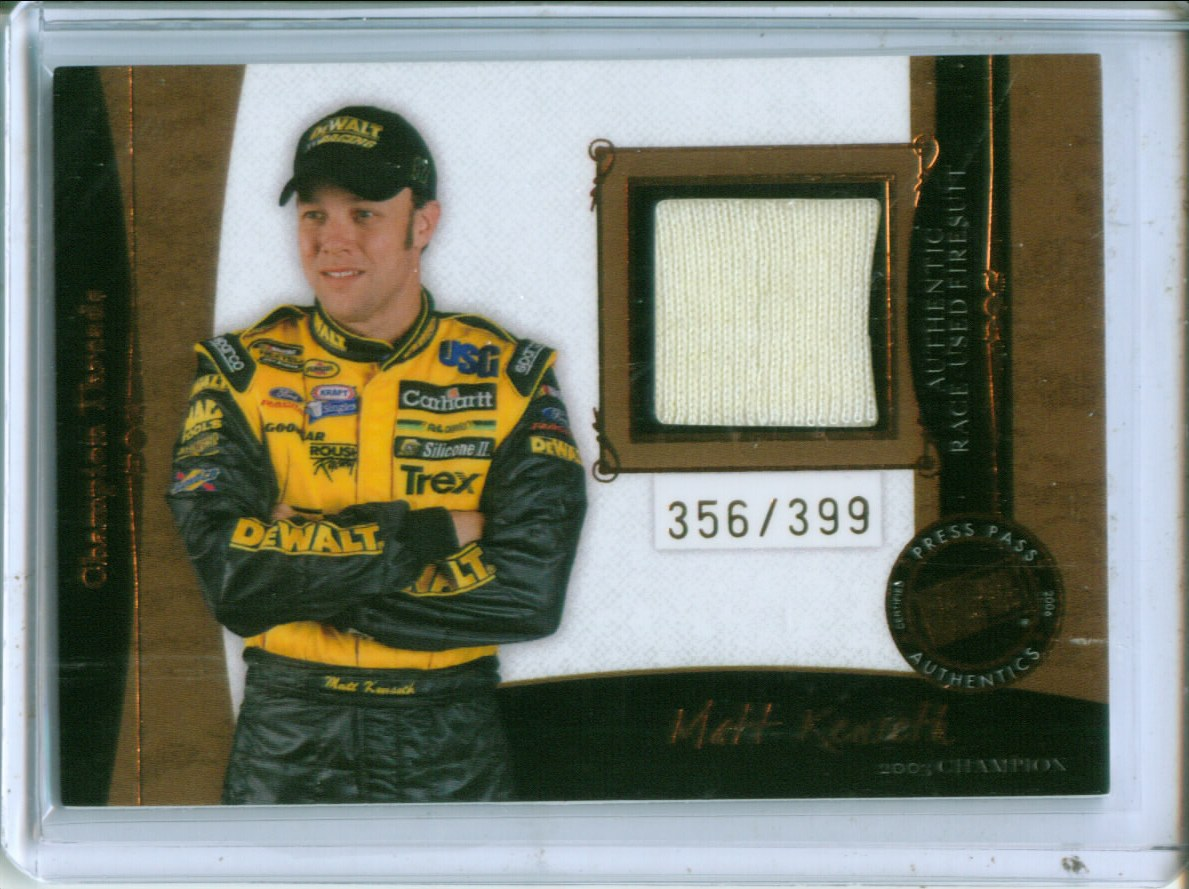 2006 Press Pass Legends Champion Threads Bronze #CTMK Matt Kenseth