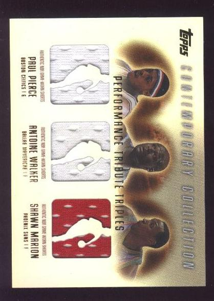 2003-04 Topps Contemporary Collection Performance Tribute Triples #PWM Paul Pierce/Antoine Walker/Shawn Marion