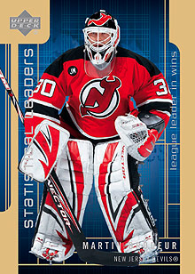 2006-07 Upper Deck Statistical Leaders #SL5 Martin Brodeur