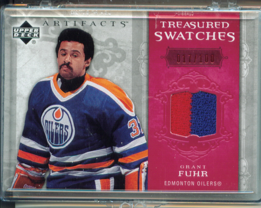 2006-07 Artifacts Treasured Swatches Red #TSGF Grant Fuhr