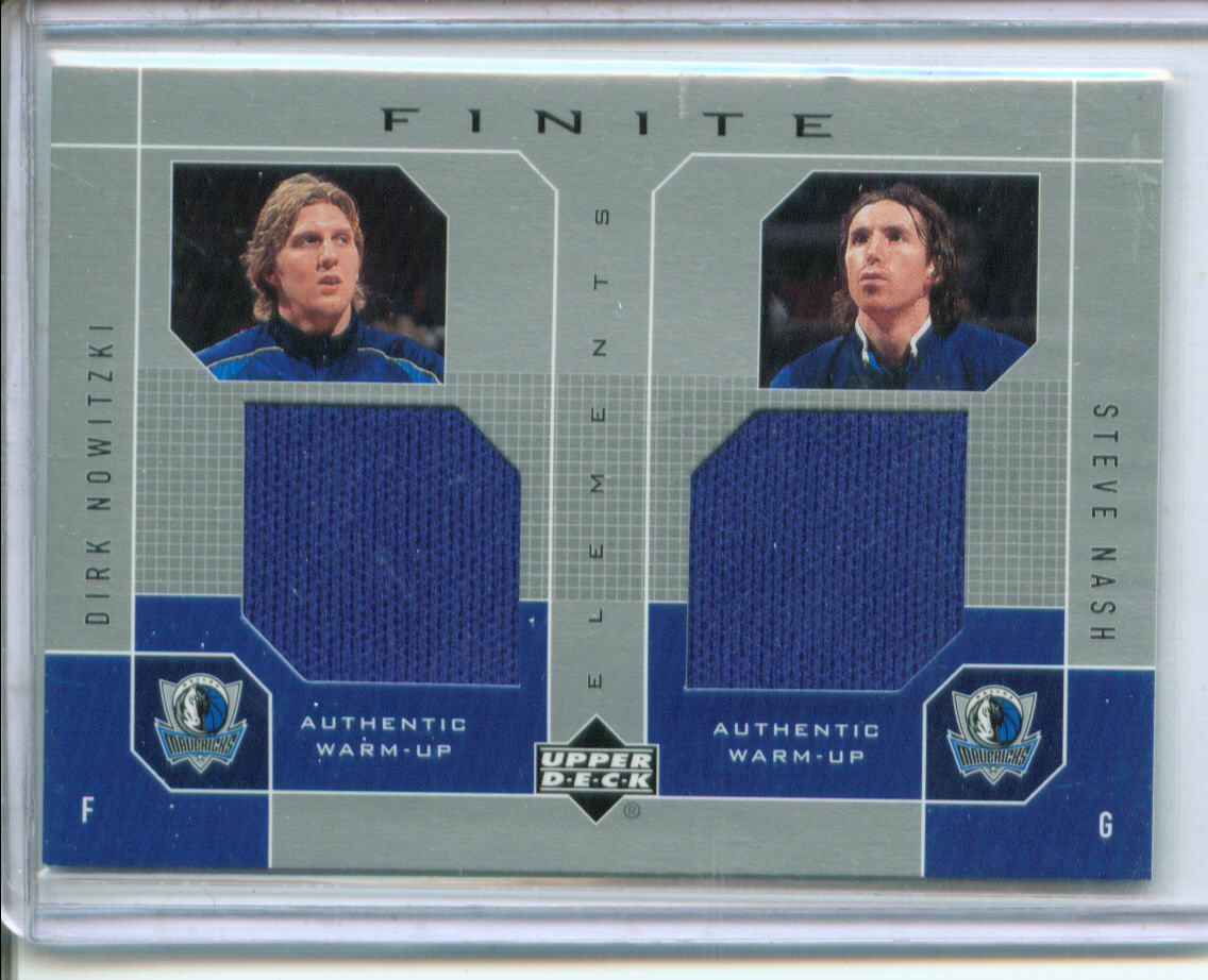 2002-03 Upper Deck Finite Elements Dual Warm-Ups #DNSN Dirk Nowitzki/Steve Nash
