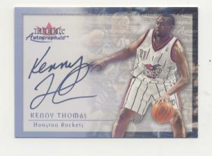 2000-01 Fleer Autographics Silver #70 Kenny Thomas