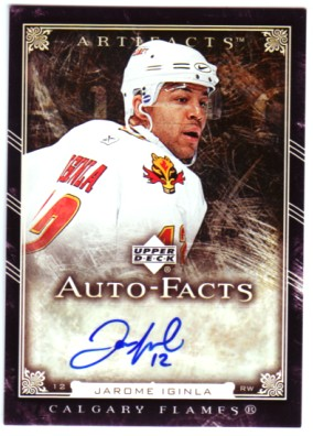 2006-07 Artifacts Autofacts #AFJI Jarome Iginla SP front image