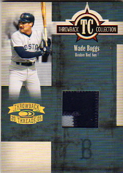 2005 Throwback Threads Throwback Collection Material Prime #26 Wade Boggs Jsy/25