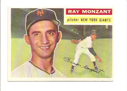 1956 Topps #264 Ray Monzant RC