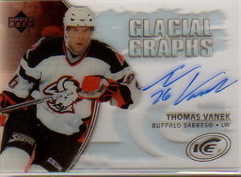 2005-06 Upper Deck Ice Glacial Graphs #GGTV Thomas Vanek