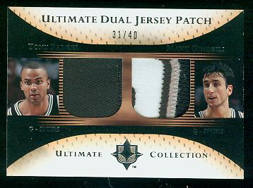 2005-06 Ultimate Collection Patches Dual #DPPG Tony Parker/Manu Ginobili